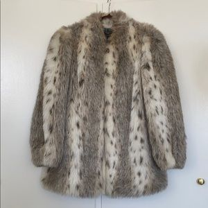 Vintage Faux Fur Oversized Jacket